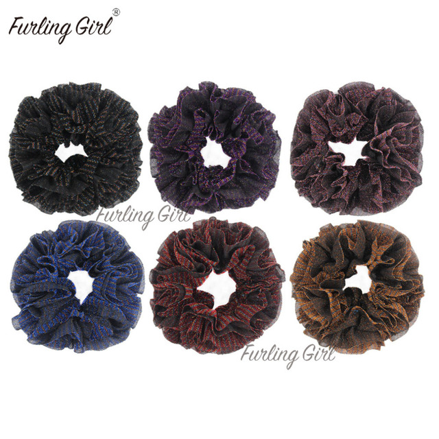 Furling Girl Large Size Muslim Handbands Flexible Rubber Band Comfortable Volumising Scrunchies Hair Tie Hair Bands for Women