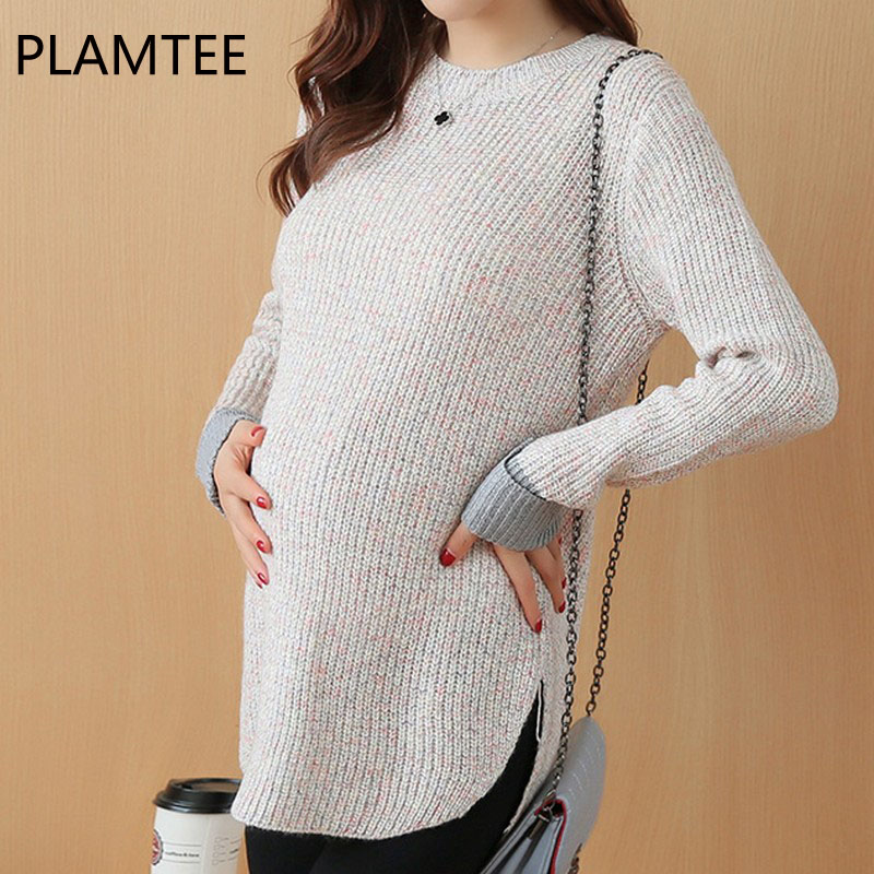 PLAMTEE Maternity Clothes Fashion Hoodie Sweatshirt New Pullover Clothing For Pregnancy Women 2017 Autumn Solid Outerwear