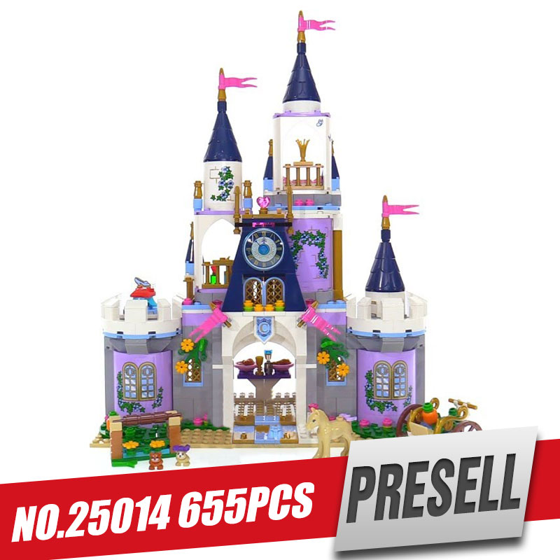 Lepin 25014 655Pcs girl Series The 41154 Dream Castle Set building Blocks Bricks Educational Funny Toys For Kids brithday Gifts new 515pcs girl series castle educational lepines building blocks bricks figures toys gril toy