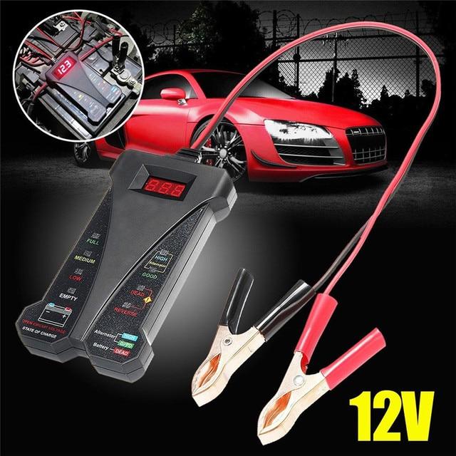 Convenient Long Lifespan 12V Car Durable Portable LED Auto Diagnostic Tool Safety Vehicle Digital Battery Tester Analyzer#291730
