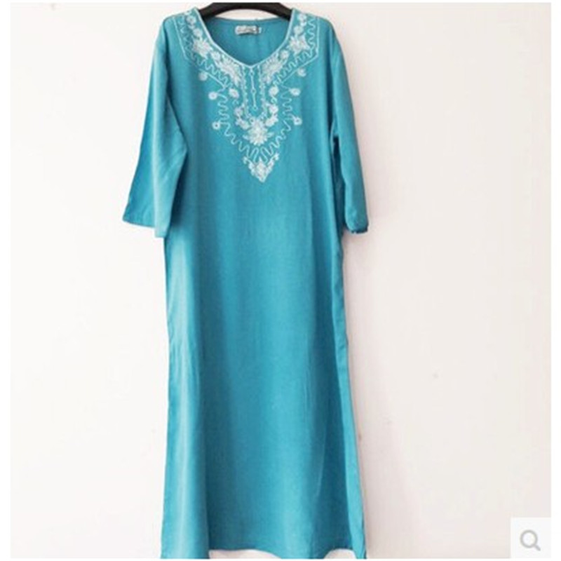 2017 New Sleep Nightgowns Womens Arabian Super Soft fabrics Nightdress  Ladies Loose Nightgown Women Cotton lounge Nightshirt -in Nightgowns    Sleepshirts ... d1852bdeb