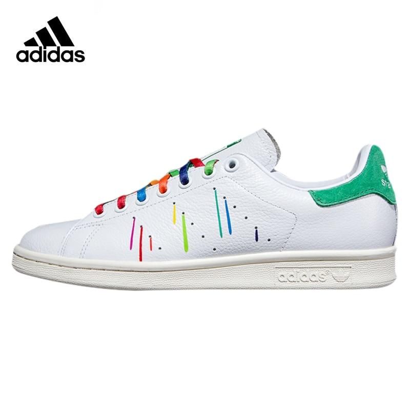Adidas STAN SMITH Women Skateboarding Shoes ,White Green ,Original Sport Sneakers Wearable Lightweight Breathable D70352 adidas кеды adidas stan smith vulc mystery blue footwear white matte gold uk 12