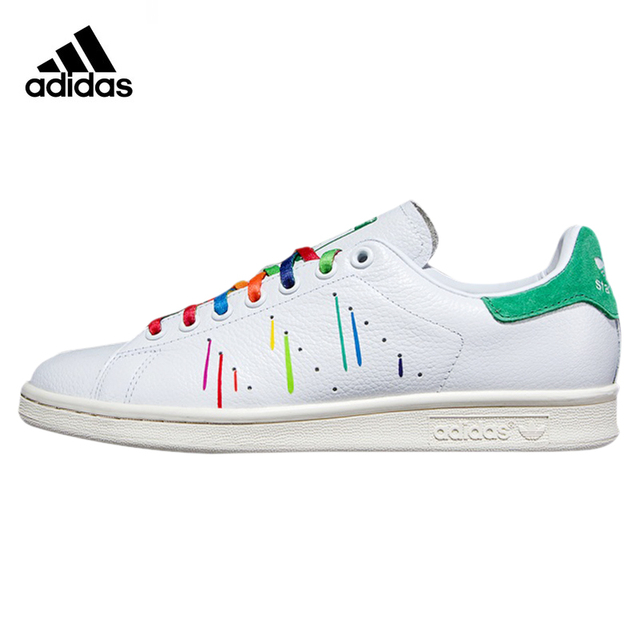 76841bbe904 Adidas STAN SMITH Women Skateboarding Shoes ,White Green ,Original Sport  Sneakers Wearable Lightweight Breathable