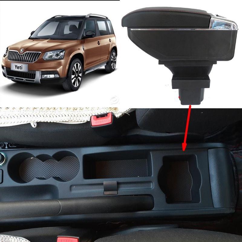 Untuk Skoda Yeti Octavia A5 kotak sandaran tangan pusat kotak - Suku cadang mobil - Foto 2