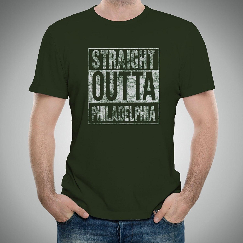 GILDAN 2017 New Pure Cotton Short Sleeves Hip Hop Fashion Mens T-shirt Straight Outta Hometown Pride Mens T-shirt