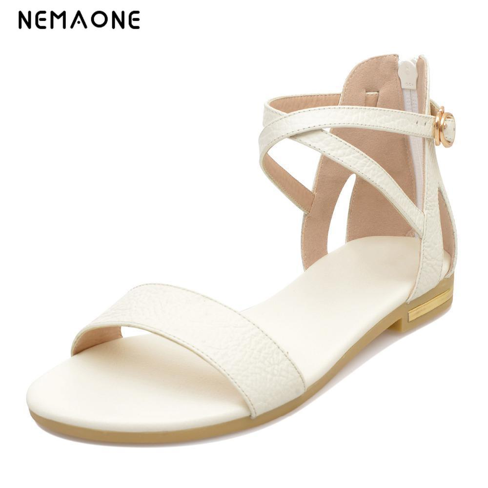 0afeb412d78983 NEMAONE 2019 Women shoes sandals comfort sandals women Summer Classic  fashion Summer high quality flat sandals