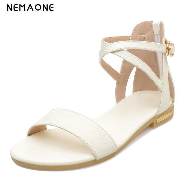 e263c250c1bde NEMAONE 2019 Women shoes sandals comfort sandals women Summer Classic  fashion Summer high quality flat sandals