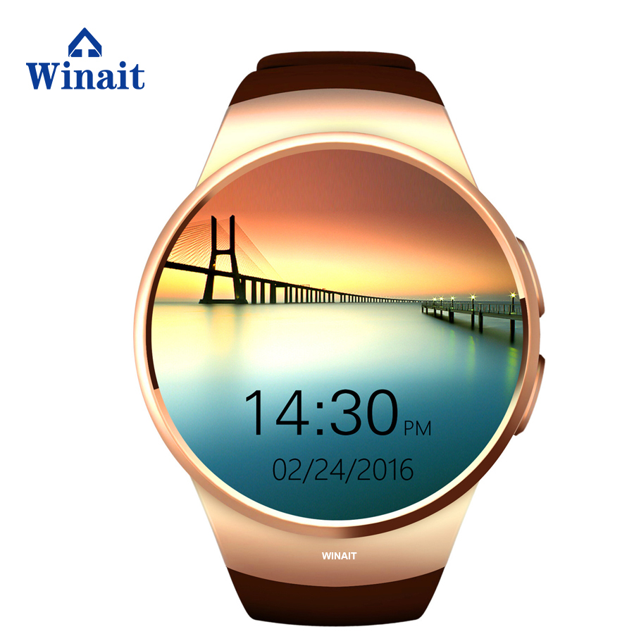 Wristband new KW18 enclosed speaker bracelet GSM card bluetooth music LCD round screen smart watch fashion Distance calculation