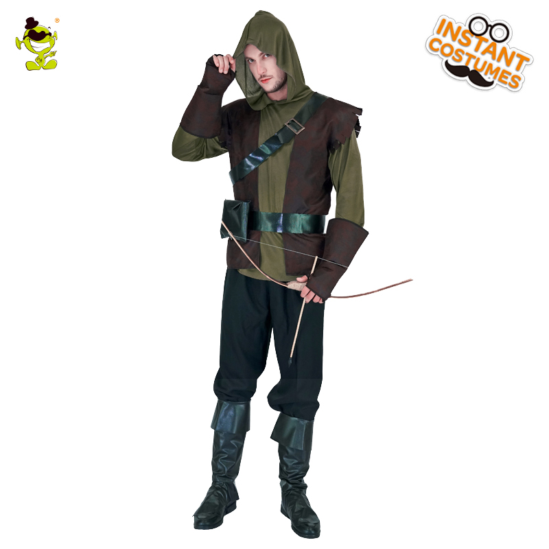 QLQ Robin Hood costume Brave Green arrow man role play Fancy clothing For  Halloween dab14b0ef
