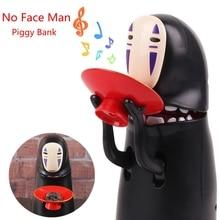 Electronic Faceless Man Money Box Ghost Figure Coin Cartoon No-face Piggy Bank Funny Saving