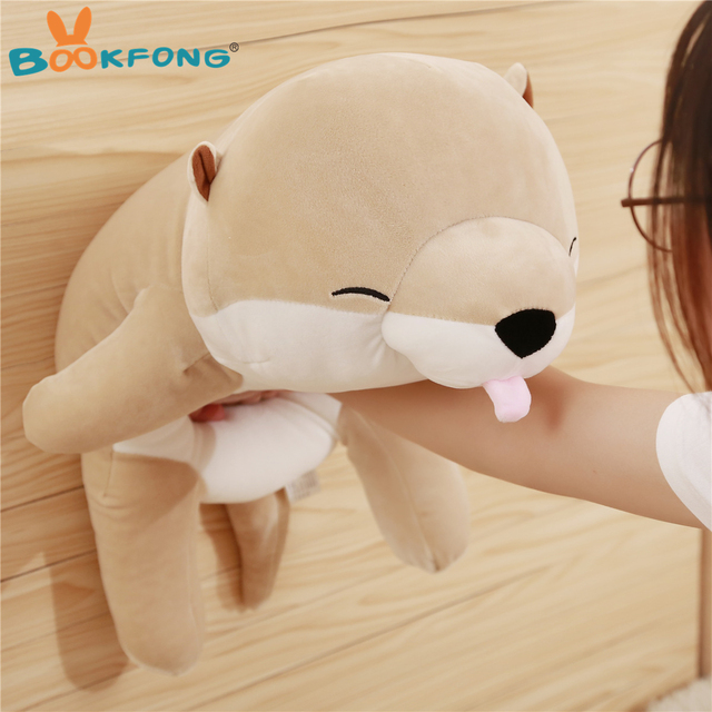 45 60cm Lovely Otter Plush Toy Soft Cartoon Sea Otter Pillow Stuffed