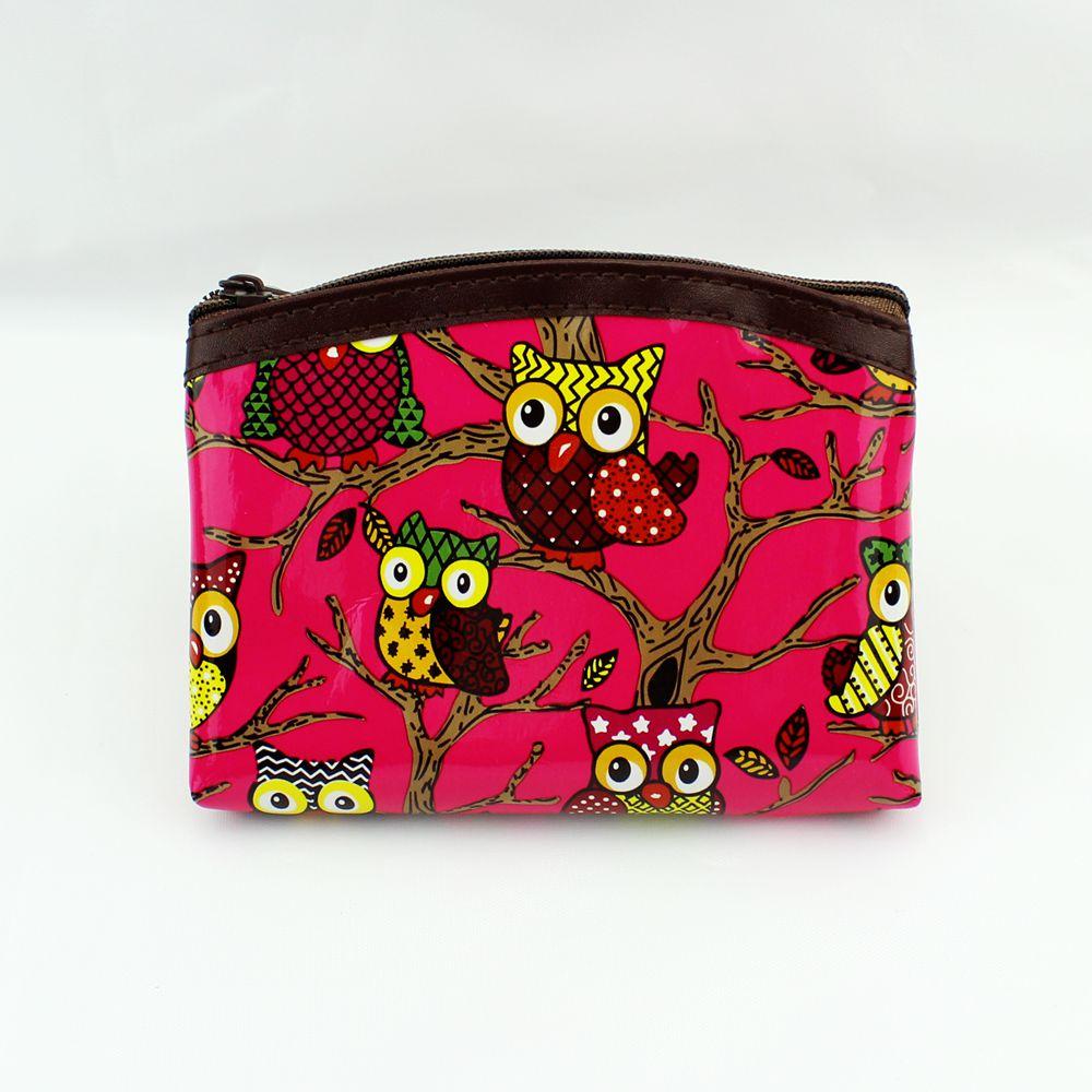 Cute Owl Coin Wallets Women Coin Purse Patent Leather Wallet Change Purse Ladies Clutch Zipper Coins
