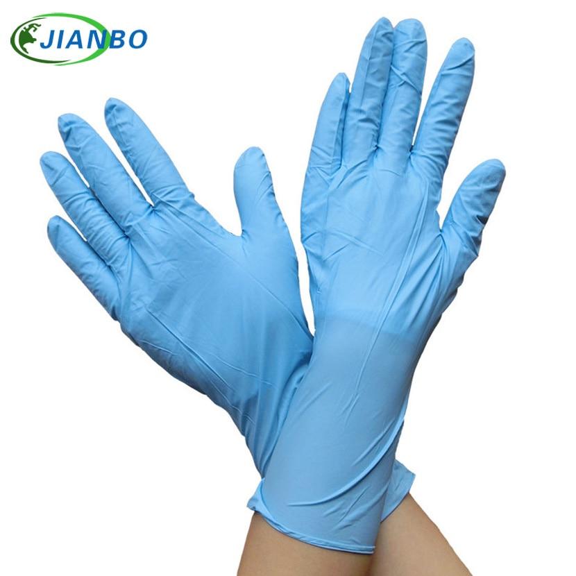 10 pcs Descartáveis Luvas de Borracha Nitrílica de Látex Médico Odontologia Laboratório Pó de Produtos Químicos de Borracha de Proteção Livre Longas Luvas de Trabalho