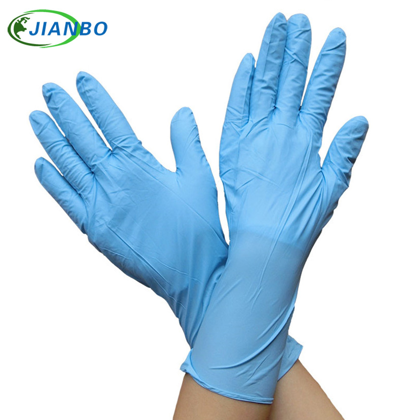 100Pcs Disposable Blue Nitrile Latex Working Gloves For Kitchen Medical Dentistry Powder Free Protection Industrial Maintenance fwpp disposable nitrile gloves medical grade powder free latex free disposable non sterile food safe s m l black 50 pcs
