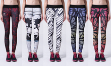 Women Compression Slim Fit Pants Elastic Wicking Exercise Leggins for Female Fitness Running Gym 3d Printed Leggings for Ladies