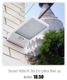 PIR sensor Solar Build-in bateria da lâmpada