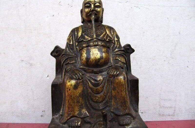 8 Folklorique chinois Vintage Cuivre Bronze shadow boxing Fondateur statue de Bouddha8 Folklorique chinois Vintage Cuivre Bronze shadow boxing Fondateur statue de Bouddha