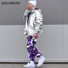 Aolamegs Camouflage Cargohosen Männer 8 Farbe Hip Hop Casual Hosen Baggy Taktische Hosen Taschen Baumwolle 2017 Mode Jogginghose