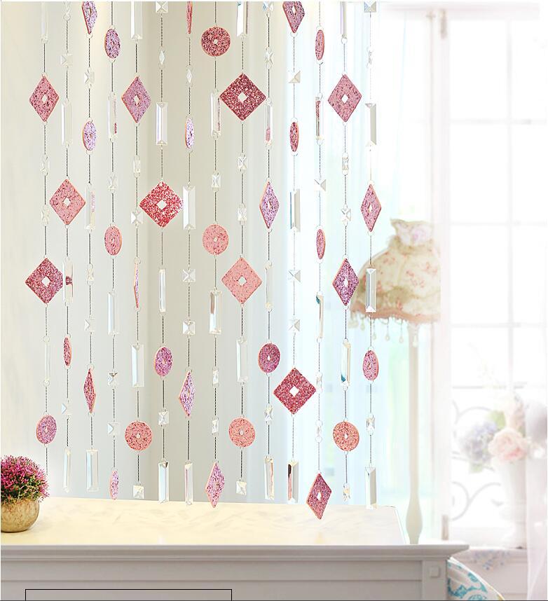 Fait à la main cristal perle rideau Simulation en cuir rideau écran partition fini rideau Feng Shui rideaux décor à la maison