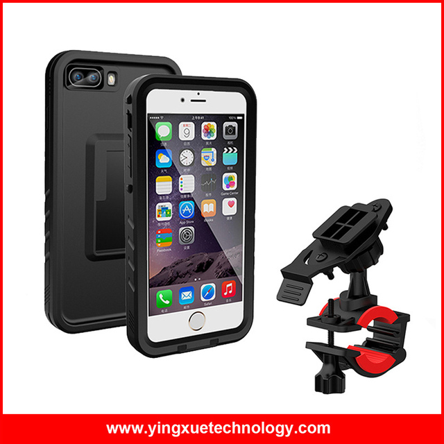 pretty nice a39d0 b5224 US $18.19 9% OFF|Bicycle Handlebar Mount Phone Holder Bike Mount with IP68  Waterproof Case for iPhone 7/8/7/8 Plus-in Mobile Phone Holders & Stands ...