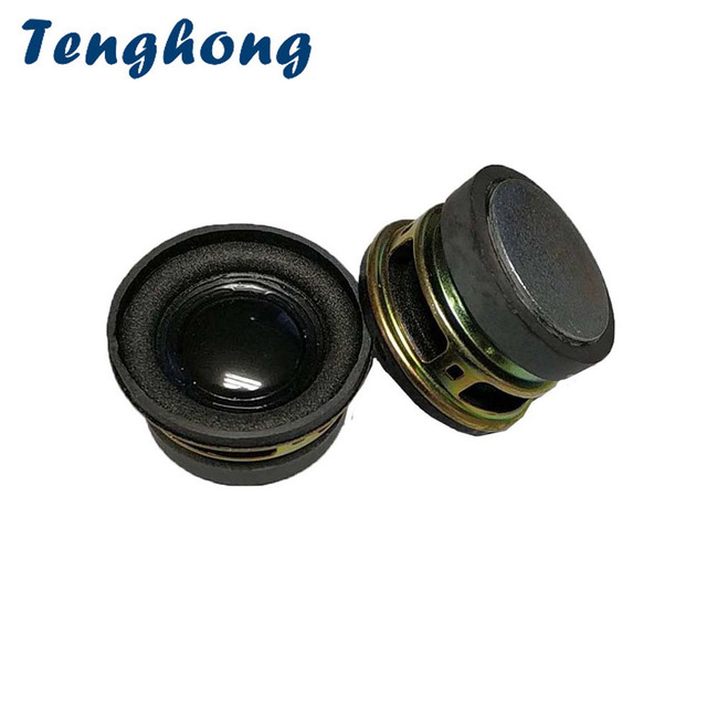 Alto falantes tenghong 2 peças 40mm, escala completa, 4ohm 3w, unidade de áudio portátil, bolha redonda para home theater alto falante bluetooth,