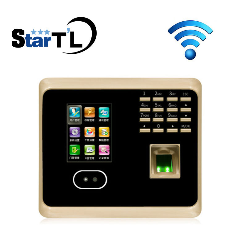 все цены на Free Shipping Biometric Facial Fingerprint Employee Time Attendance UF100 Plus Face Recognition System Face Employee Time Clock