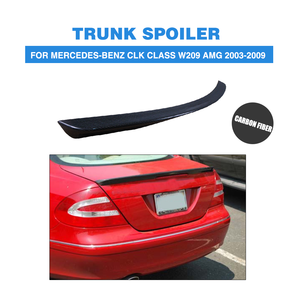 Carbon Fiber Rear <font><b>Spoiler</b></font> Trunk Boot Lip Wings For Mercedes-Benz CLK Class <font><b>W209</b></font> AMG 2003-2009 Car Tuning Parts image
