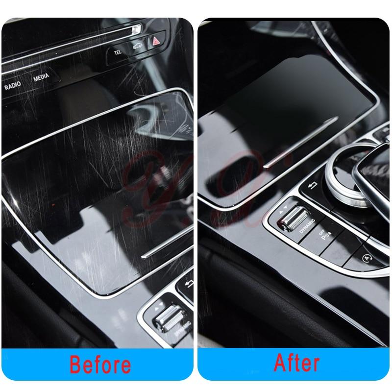For Mercedes Benz W205 C Class C200 Transparent Promotion TPU Film Sticker For Mercedes Center Console Car Accessories