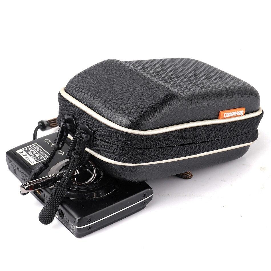 Negro PU learther cámara caso para Canon IXUS 285 180 175