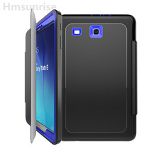 Hmsunrise Case For Samsung Galaxy tab e 9.6 T560 T561 Kids Safe Shockproof Heavy Duty TPU Hard Cover kickstand full Protiection