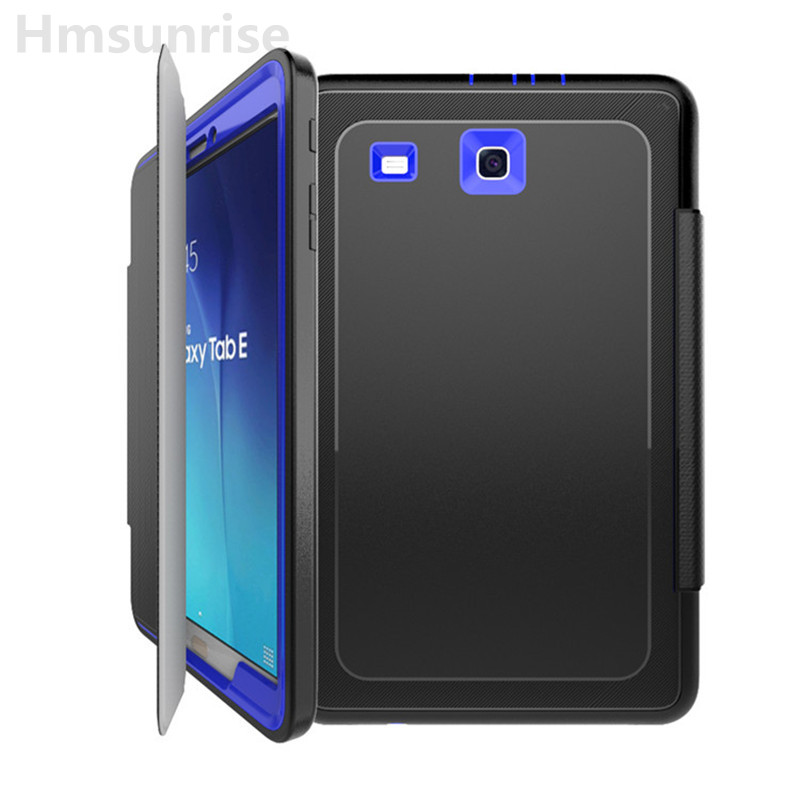 Hmsunrise чахол для Samsung Galaxy Tab 9,6 х T560 T561 Kids Safe супрацьударнага Heavy Duty TPU Hard Cover падножка поўнага Protiection