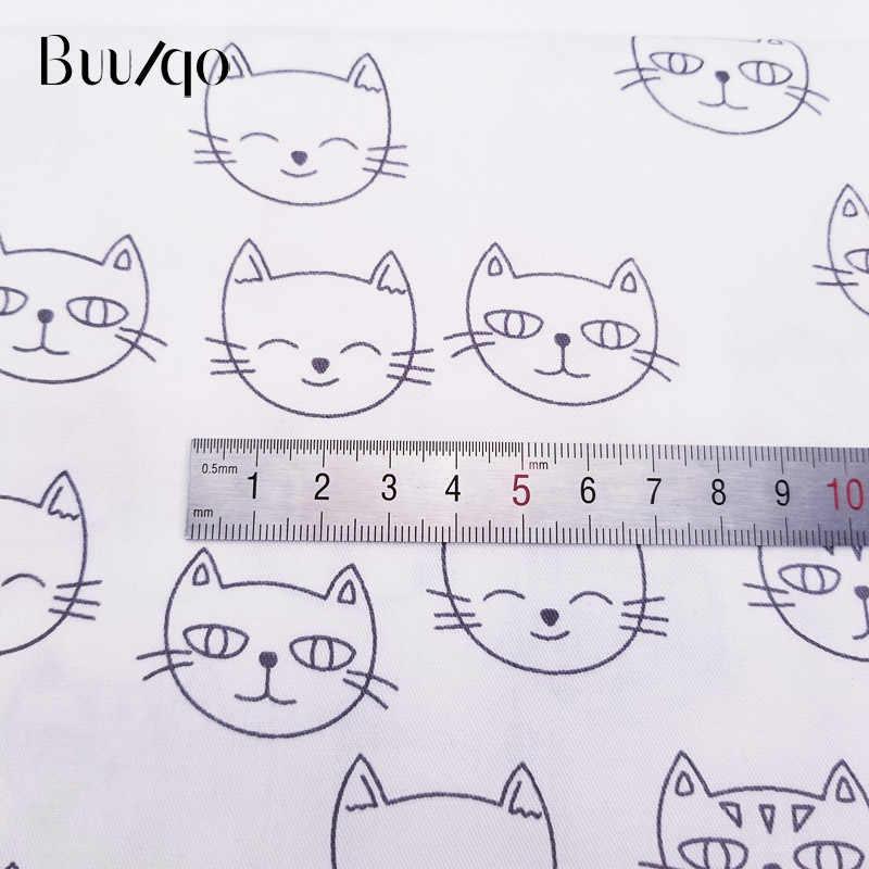 50*40cm tecido impresso gatos crianças sarja algodão tecido de retalhos pano diy costura estofando quartos gordos material para o bebê & criança