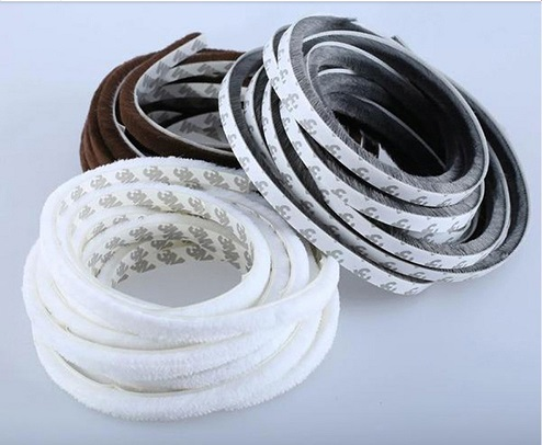 5Meters Brush Strip Home Door Seal Strip Draught Excluder Window Pile Seal Film Door Brush Swal Weather Strip Window