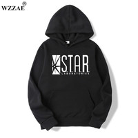 WZZAE 2017 STAR S T A R Labs Black Men S Hooded Hoodies Men Sweatshirt Jumper