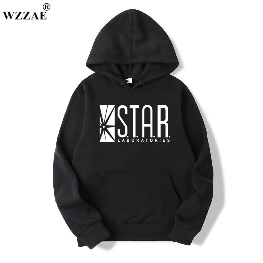 WZZAE 2018 STAR S.T.A.R.labs Black Men's Hooded Hoos