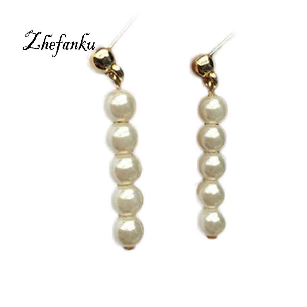 Long Earrings Pearl Dangle Women font b Jewelry b font From India Bohemian Boucle D oreille