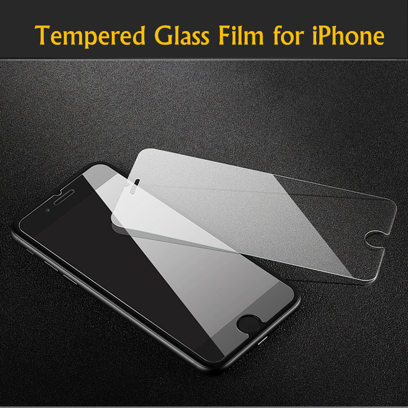 Screen Protector Tempered Glass Adhesive Sticker Film Verre Tempado for iPhone X 8 7 7 Plus 6 6S Plus 5 5S 4 4S+Retail Package