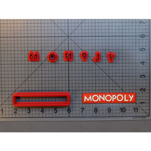 Monopoly Logo Cookie Cutter Fondant Cupcake Tools Custom Made 3D Printed Set cookies cutter tools