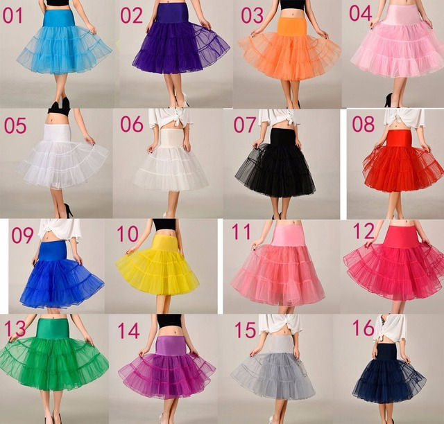 Fast Shipping Tutu Rockabilly Skirt Crinoline Short Petticoat For Wedding Dress Petticoat Crinoline Underskirt Wholesale
