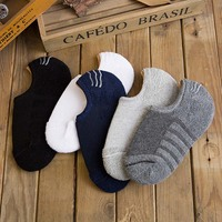 New Arrival Men Winter Terry Socks Solid Thick Men Ankle No Show Socks 10pairs Lot
