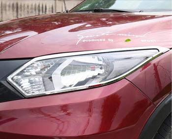JINGHANG ABS Chrome Car Front Headlight + Rear Tail Light Lamp Cover Trim For Honda VEZEL 2015 2016 2017 2018