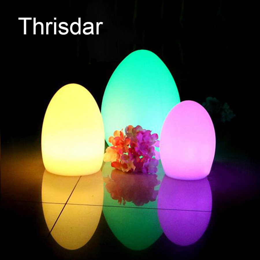 RGB Led Night Light Egg-Shaped Rechargeable Night Bar KTV Pub Club Lamp With Remote Controller Outdoor Table Lamp 220V 110V semicircle rgb led illuminated furniture bar table lamps rechargeable night bar ktv lamp remote controller outdoor table lamp