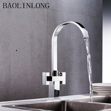 360 Degree Rotation brass drinking filtered water kitchen faucet Bend Double right angle Right Faucet Kitchen sink tap