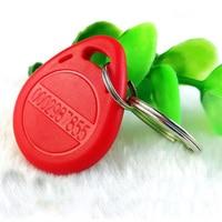 100 125khz RFID Keychain Sticker Card Label Key ID Keychain TK4100 Access Control Access Control EM Keychain Token Portal Reade