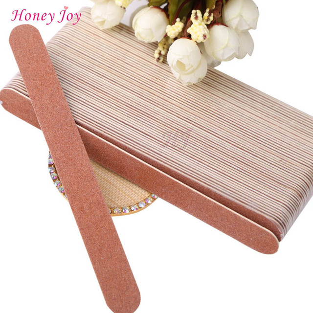5pcs/lot Well Fit Nails Edge Wooden Nail Files 0.15mm Thin Manicure ...