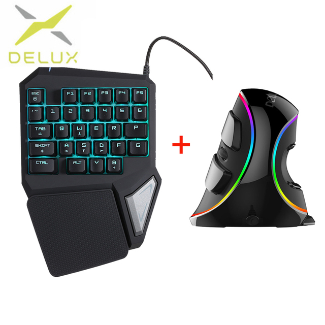 Delux gaming keyboard t9 pro Vertical Gaming Mouse M618 mini ...