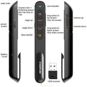 Image 3 - Knorvay אלחוטי מגיש RF 2.4GHz מיני USB אלחוטי מגיש Powerpoint PPT מצגת מצביע שלט רחוק