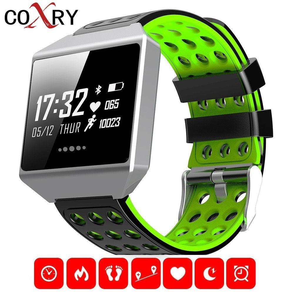 COXRY Sport Smart Watch Men Digital Running Watch Pedometer Waterproof Blood Pressure Heart Rate Sleep Monitor Smart Electronics coxry fitness smart watch women digital watches blood pressure sports heart rate pedometer sleep led calorie counter wrist watch