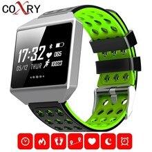 hot deal buy coxry sport smart watch men digital running watch pedometer waterproof blood pressure heart rate sleep monitor smart electronics