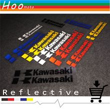 Reflective stickers car-styling motorcycle and decals For Kawasaki ZX-6R ZX-10R ZX-12R ZZR1400 Z750 Z750S Z1000 MOTO